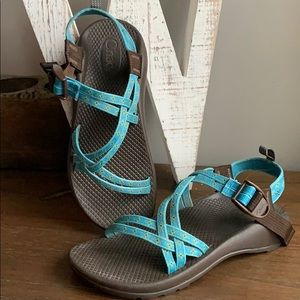 Chaco Zx/1 Blue Sport Hiking Sandals Youth 5
